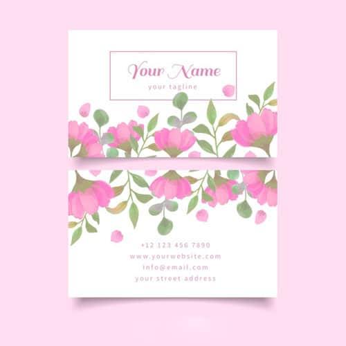 طراحی رنگارنگ کارت تجاری